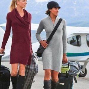 Athleta Sochi burgundy sweater dress size L
